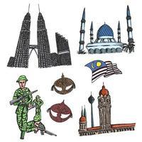 Merdeka signifie fête de l'indépendance de la Malaisie vecteur