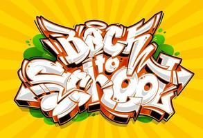 Inscriptions Graffiti pour la rentrée scolaire vecteur