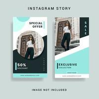 Modèle d'histoire sur les médias sociaux Instagram
