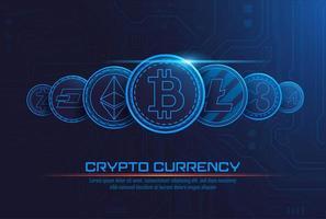 Fond de concept crypto-monnaie