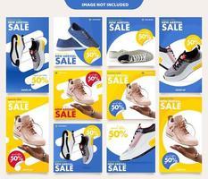 Sneakers Instagram Post Stories Modèles vecteur