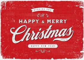 Carte postale vintage de joyeux Noël vecteur