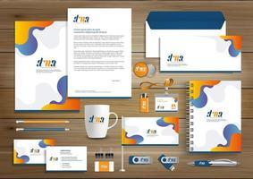 Modèle de conception d'identité d'entreprise vecteur