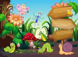 Scène avec différents types de bugs
