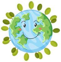 Une icône de la terre heureuse