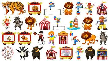 Grand ensemble sur le thème du cirque vecteur