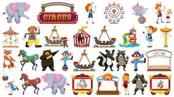 Grand ensemble sur le thème du cirque