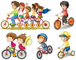 Un groupe de personnes faisant du vélo