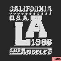 Timbre vintage de Los Angeles