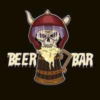 Moto crâne et bière
