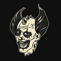 Diable enfer clown halloween vecteur