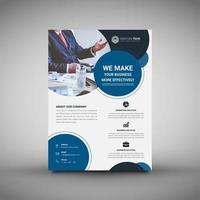 Modèle de flyer de entreprise corporative cercles de conception vecteur
