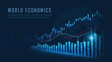 Marché boursier ou concept de graphique de trading forex
