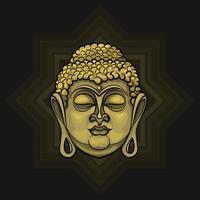 Bouddha doré rayonnant de lumière vecteur