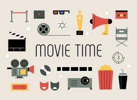 Objets liés au film. vecteur