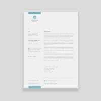 Conception de modèle de papier à en-tête d'entreprise