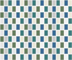 Motif de carreaux de grille bleu et vert vecteur