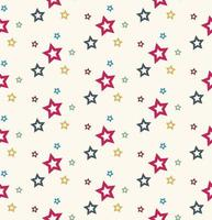 Motif d'étoiles colorées