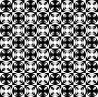 Modèle d'op art géométrique noir et blanc