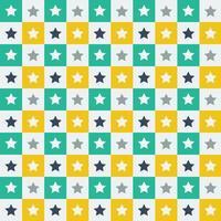 Motif étoile vert et jaune vecteur