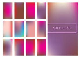 Ensemble de fond dégradés de couleurs douces