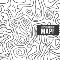 Modèle de carte topographique. Fond transparent avec lignes de contour vecteur