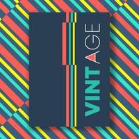Affiche de lignes de couleur vintage vecteur