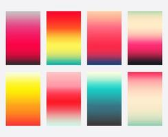 Ensemble de modèle de couvertures dégradé coloré vecteur