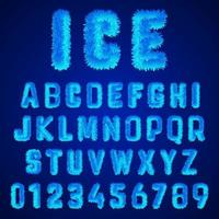 Modèle d'alphabet de police de glace vecteur