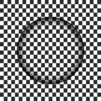 Trou de cercle transparent avec bord flou. Illustration vectorielle vecteur