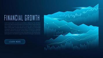 Graphique boursier ou forex en concept graphique vecteur