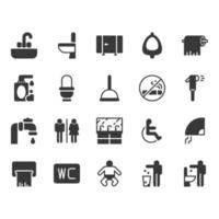 Jeu d'icônes de toilettes