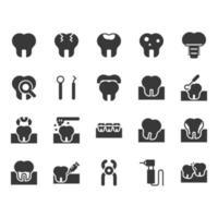 Jeu d'icônes dentaires
