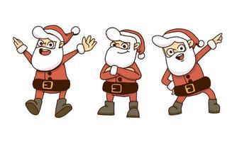 Caricature d'action de père Noël vecteur