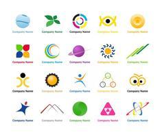 Pack de logo créatif vecteur