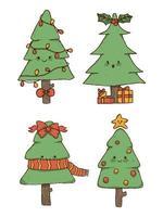 Arbre de Noël design élément mignon vecteur