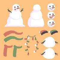 Design créateur personnage bonhomme de neige noël