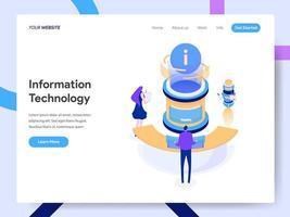 Modèle de page d'atterrissage de la technologie de l'information