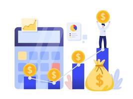 Concept d'investissement en ligne. vecteur