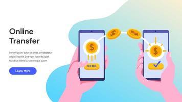 Transfert d'argent en ligne avec mobile