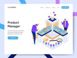 Modèle de page d'atterrissage de Digital Product Manager vecteur