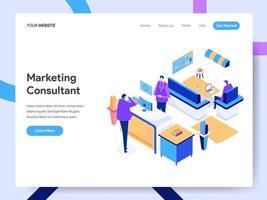 Consultant en marketing numérique vecteur