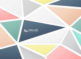 Tech abstrait couleurs de motif triangles