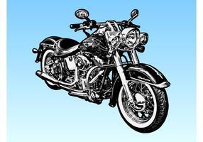 Moto harley davidson vecteur