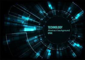 Concept abstrait de technologie numérique vecteur