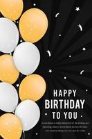 Affiche de fête de joyeux anniversaire vecteur