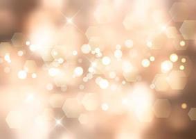Fond d'or avec des lumières de bokeh