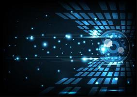 Concept de technologie numérique abstrait œil vecteur