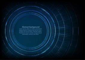 Fond de technologie circulaire avec un espace pour le texte