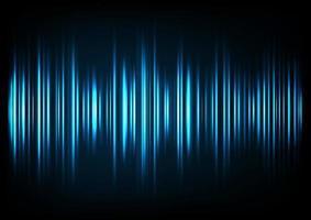 La musique bleue sonne des ondes. Technologie audio, impulsion musicale. vecteur